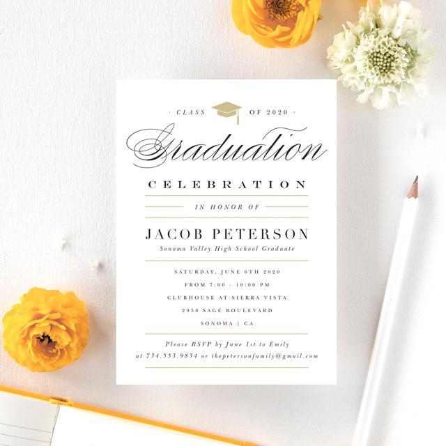 Graduation Party Invitation Example